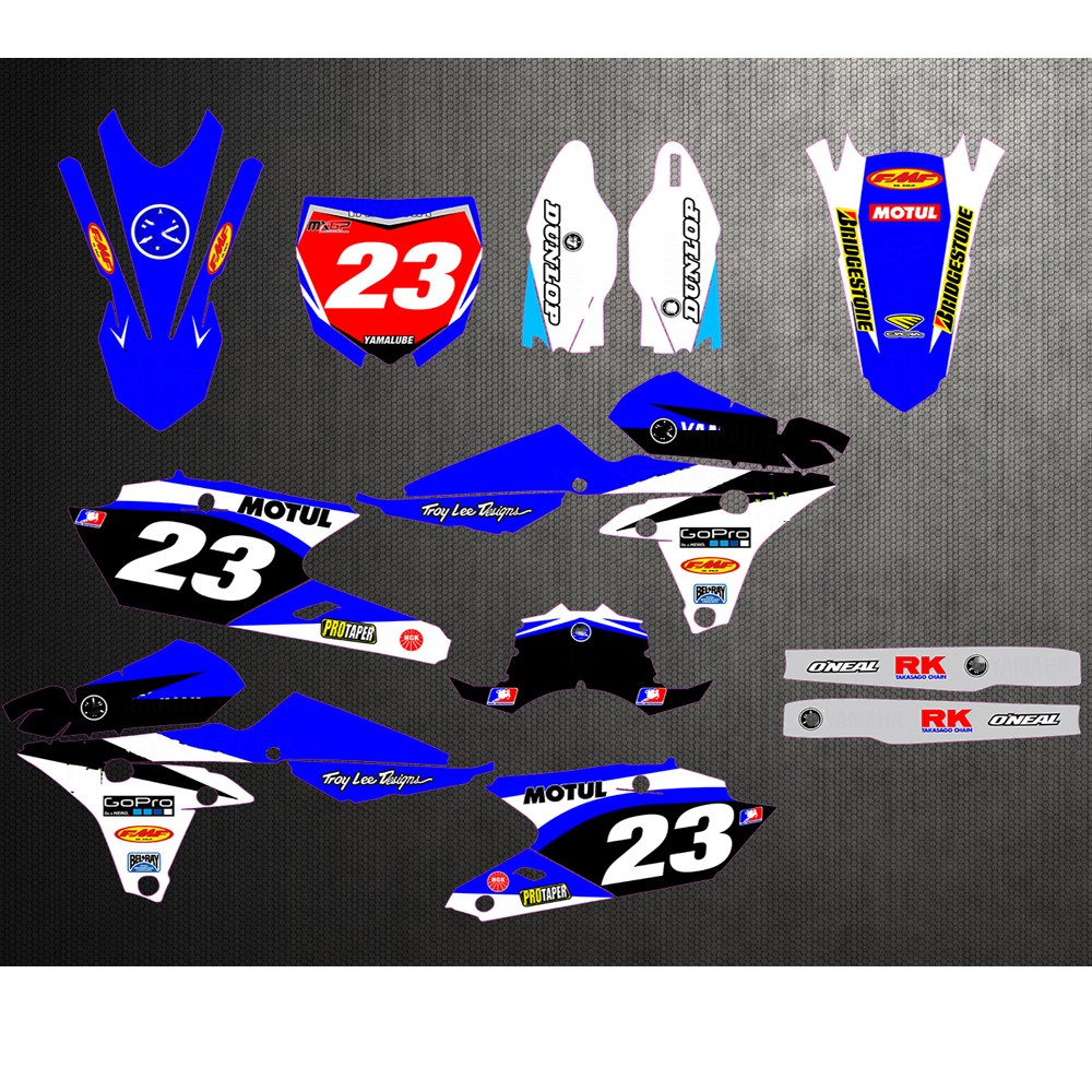 Team Racing Graphics kit compatible with Yamaha 2003-2004 YZ 250F//450F SCATTER