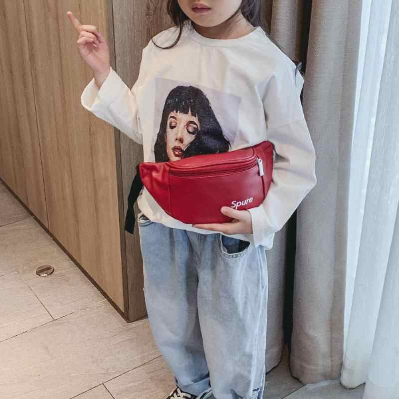 Anak-anak Pinggang Paket Tas Kecil Kanvas Tas Dada Anak Boy Girl Uang Dompet Dompet Sabuk Pinggang Tas Selempang tas