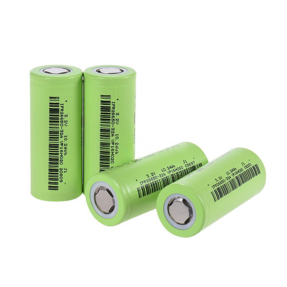 Soshine 4 pièces 3200 mAh 30A 3.2 V IFR 26650 LiFePO4 batterie rechargeable C1E4