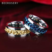 Beeroseri модные кольца из нержавеющей стали для мужчин рок