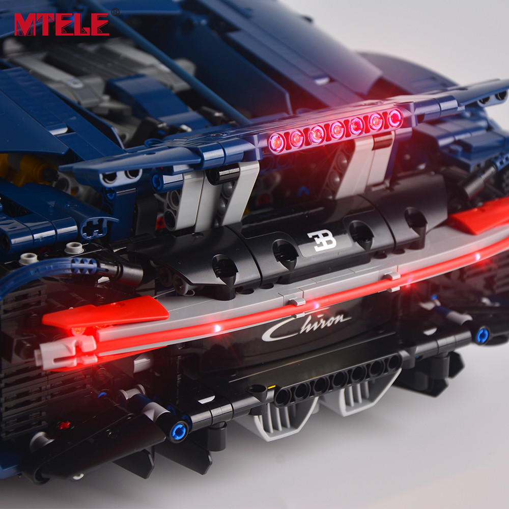 MTELE led Light Kit For Technic Series Chiron Toys Building blocks light set Compatible With Model Bugatti 42083