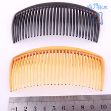 DIY Ornaments Hair Decorate Material Science 29 Tooth Black Plastic Comb Transparent Coffee Insert Tuba