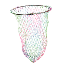Stainless Steel Frame Colorful Nylon Carp Coarse Fishing Landing Net Head Diameter: 40cm / 50cm