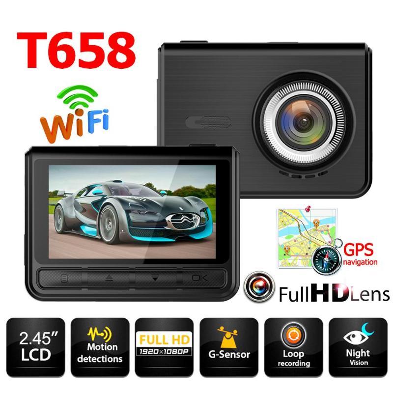 VODOOL T658 voiture DVR caméra voiture électronique 1080 p FHD 170 degrés lentille Starlight Vision nocturne voiture Dash caméra enregistreur vidéo pièces
