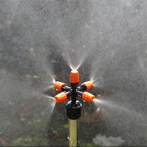 Lawn Sprinkler Automatic 360 Rotating Garden Water Sprinklers Lawn Irrigation 5 Nozzles Garden Pipe Hose
