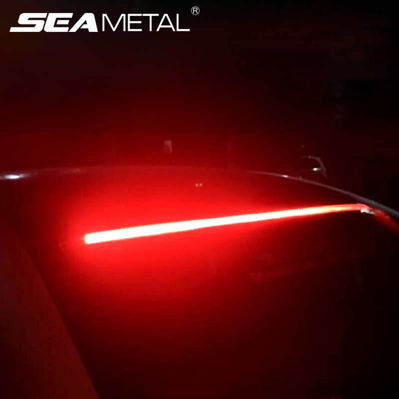 Led Lights Strip Car High Brake Driving Lights Led Signal Warning Lamp Auto Flexible Mount Safety Lamp 90cm Car Rear Stop Light Car Lights