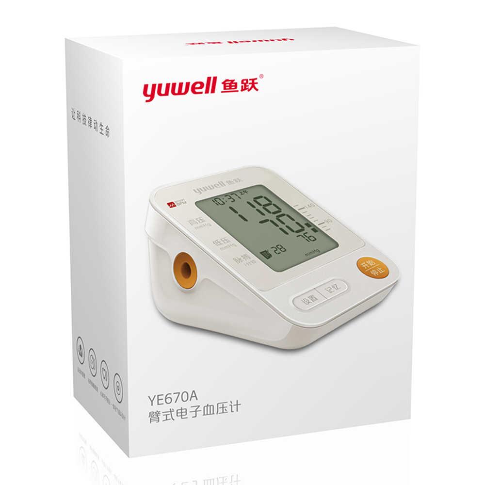 Yuwell YE670A monitor ciśnienia krwi zegarek automatyczny ciśnieniomierz elektroniczny naramienny ciśnieniomierz duży ekran ciśnienie krwi