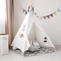 Children Tents Portable Folding Outdoor Castle Tent Children's Play House Indian Triangle Tents Kids Gift 2019 Hot Sale Newest