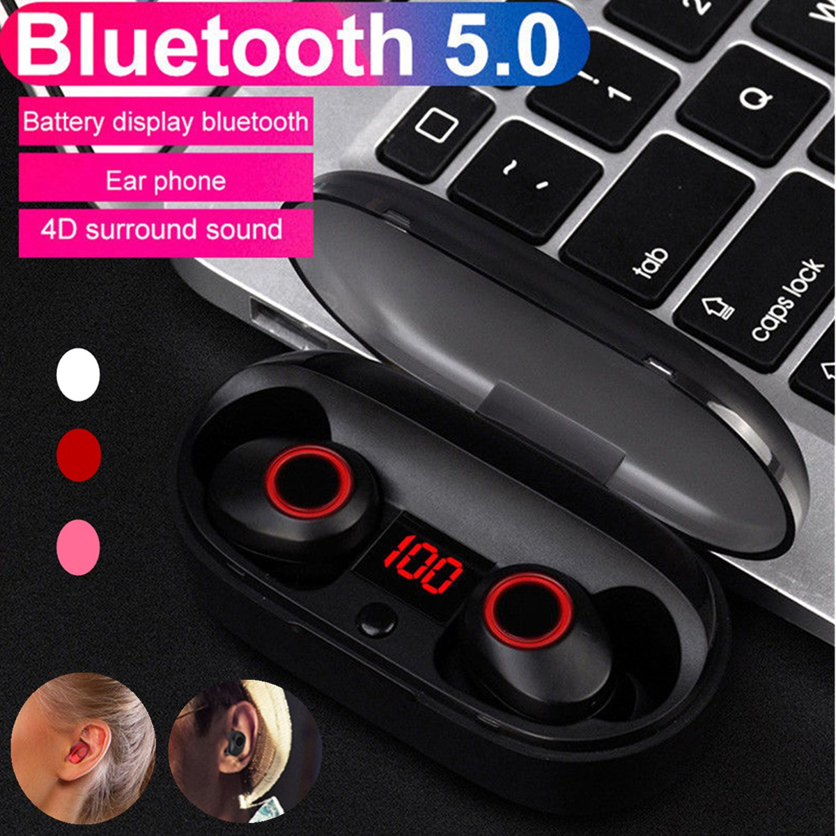 Professional Twins Mini 4D Stereo Sound Ear buds bluetooth 5.0 Earphone Invisible True Wireless Waterproof Sport EarbudsProfessional Twins Mini 4D Stereo Sound Ear buds bluetooth 5.0 Earphone Invisible True Wireless Waterproof Sport Earbuds