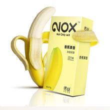 NOX 12 pcs Banana Flavor Lubricated Condoms Ultra Thin Sensation Penis Cock Sleeve Sex Products for Men seven banana flavor e juice