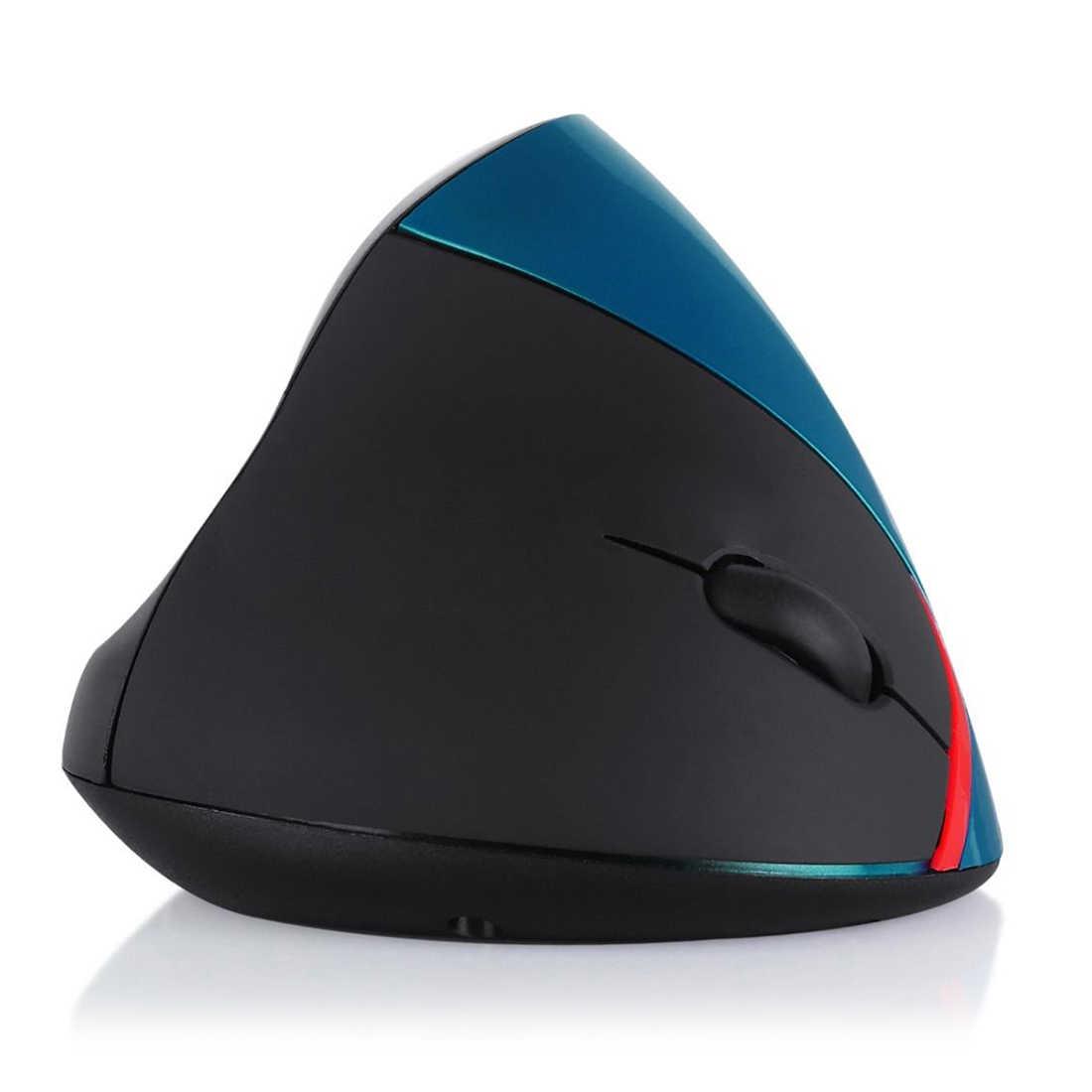 IG-2.4G Беспроводной Вертикальная оптическая мышь синего цвета