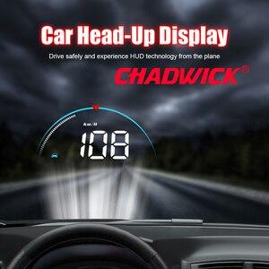 Image 2 - Wyświetlacz samochodowy HUD Head Up dane jazdy na przednia szyba CHADWICK M8 informacje o jeździe natychmiast prędkość, obroty, temperatura wody