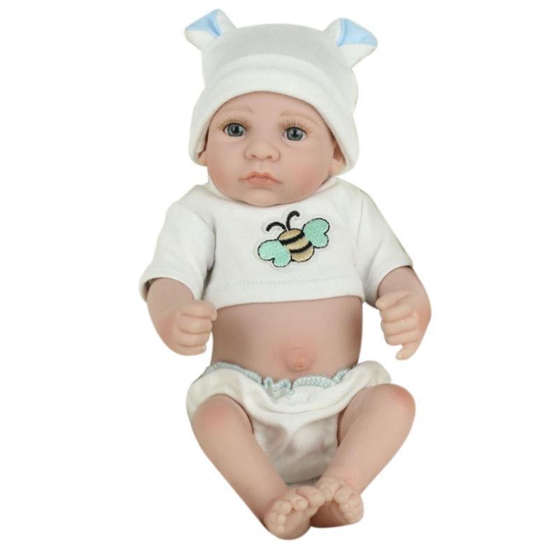 26 28cm Newborn Baby Simulation Doll Soft Children Reborn Doll Toy Boy Girl Emulated Doll Kids Birthday Gift Kindergarten Props