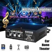 HIFI Digital 110V/220V Audio Bluetooth Power Amplifier AMP FM Radio For Car