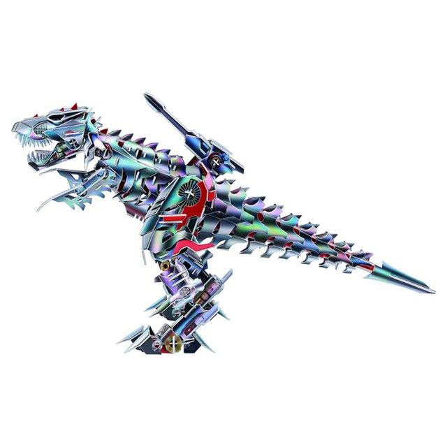2018 Popular Série Dinossauro Tiranossauro 3D Montagem Puzzle Brinquedo Educativo para As Crianças Presentes de Natal