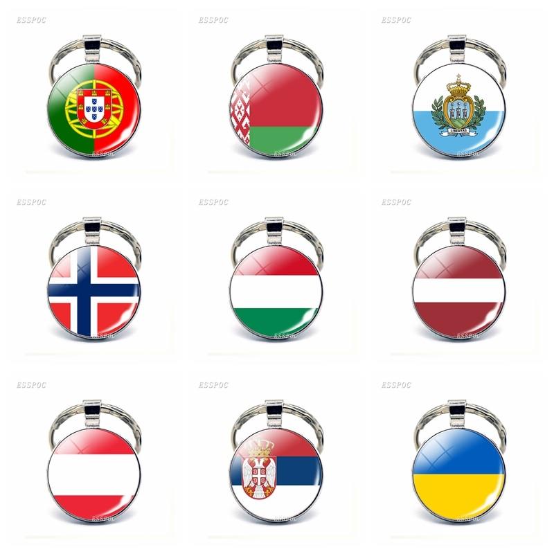 Flag of Norway Keychain Key Ring