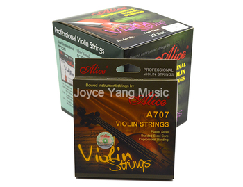 12 Sets of Alice A707 Professional Violin Strings Plated Steel Bradied Steel Core Cupronickel Winding 1st-4th Strings