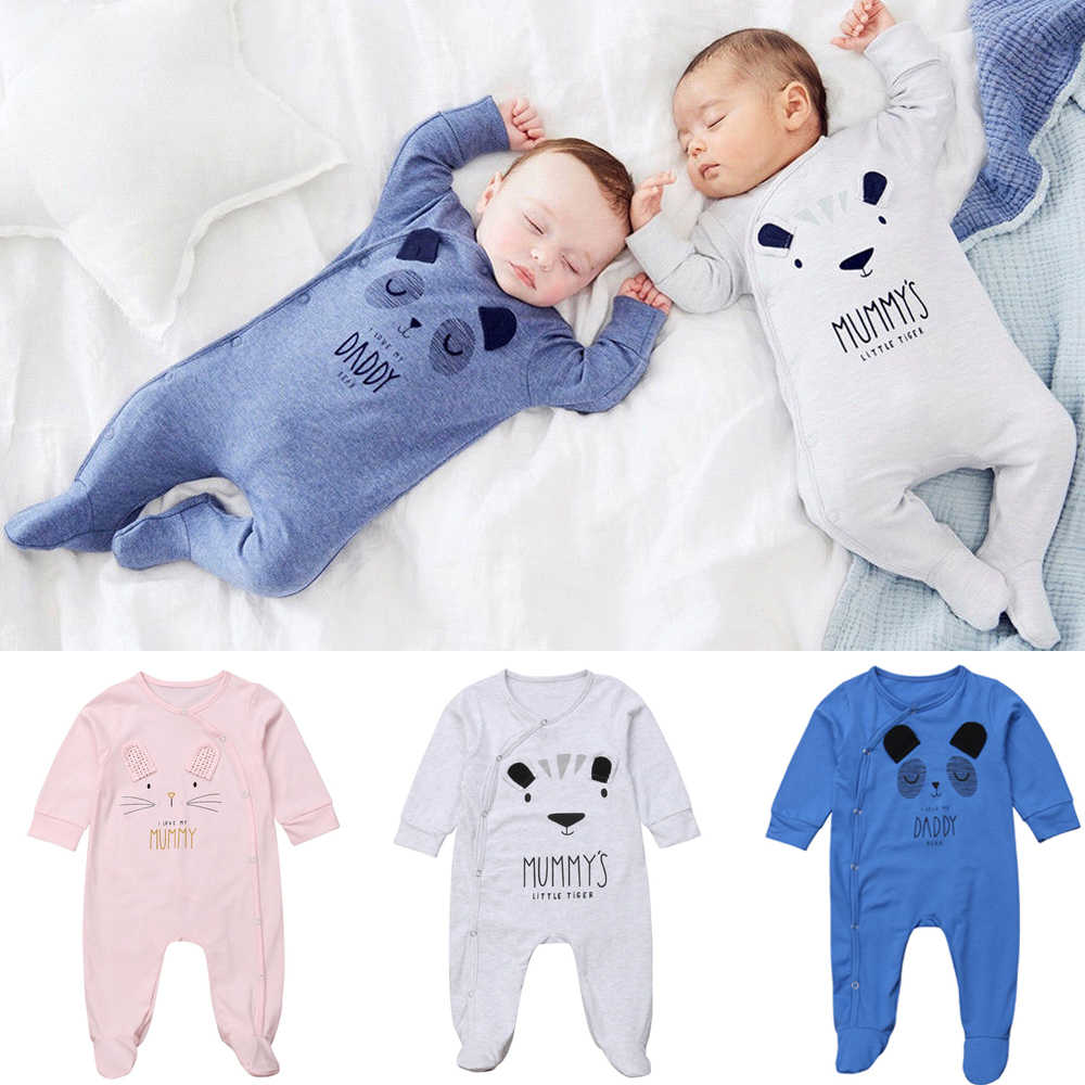 207db93dbf CANIS New Sweet Newborn Baby Boy Girl Daddy Mummy Cute Solid Bear Bodysuit  Jumpsuit Clothes Outfits