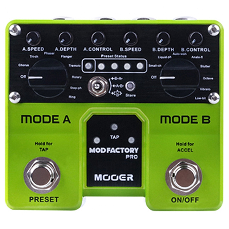 MOOER Mod Factory Pro 2 Independent Processing Modules Containing A Total Of 16 Modulation Effects Guitar PedalMOOER Mod Factory Pro 2 Independent Processing Modules Containing A Total Of 16 Modulation Effects Guitar Pedal