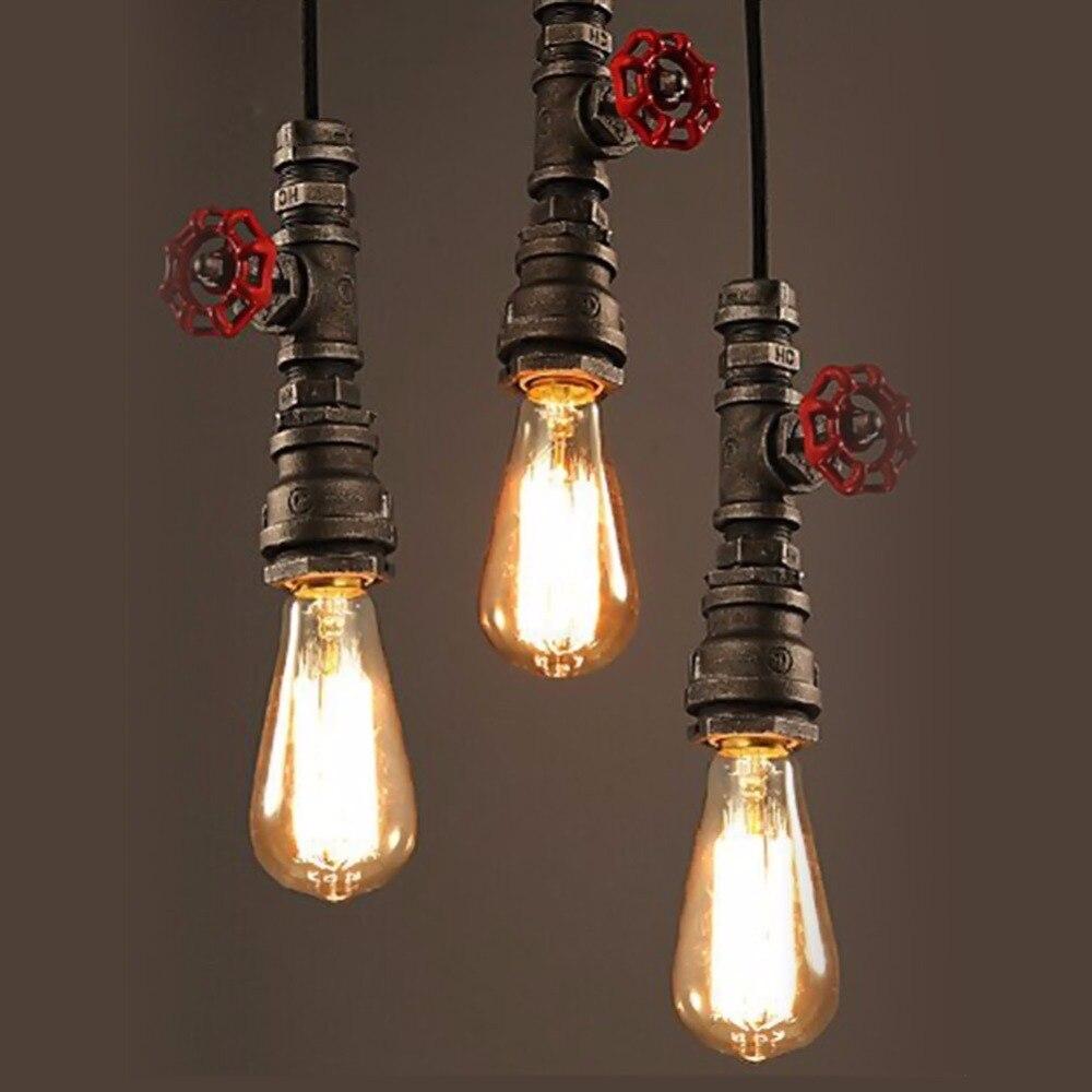 Винтажный подвесной светильник, американская промышленная лампа Эдисона, водопровод, стиль E26/E27, художественный светильник, украшение для