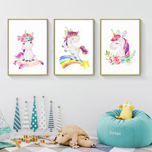 Декор для комнаты девочек радужные единороги красочная Настенная