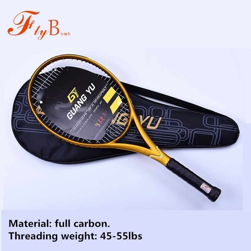 1PC High Quality Tennis Racket Professional Full Carbon Game Training Tennis Rackets For Man And Woman Single Racquet Q1315CME