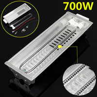 1PC 700W Far Infrared Double Carbon Fiber Heater Radiant Wave Paint Curing Heating Lamp For Baking Oven