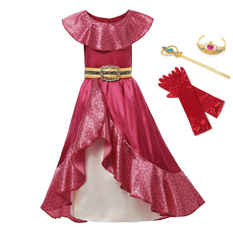 Girl Dress Elena Adventure Fantasy Children Clothing Summer Elena Princess Cosplay Costume Girls Ruffles Birthday Party DressDresses   -