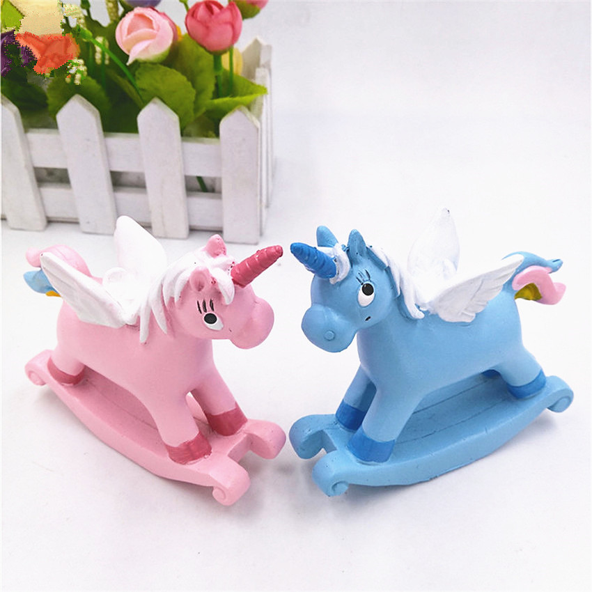 Kawaii Unicorn decoration Toy Kids Room Decor Toy For Children Pupil Christmas Halloween present Action <font><b>Figure</b></font> image