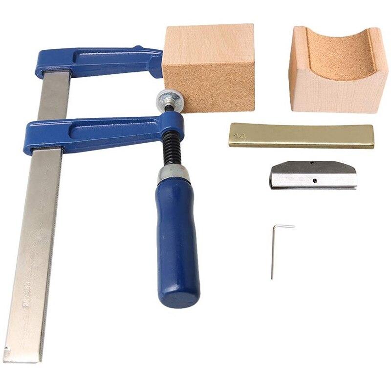 Guitare électrique électrique basse cou touche fil incrusté pression fil outil presse manchon avec 14 Arc alliage tablette