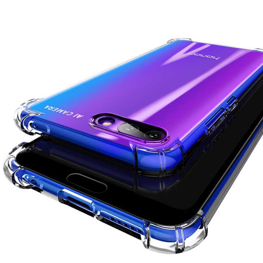 Lembut Silicone TPU Tahan Guncangan Ponsel Case untuk Huawei P10 P20 P30 Mate 20 Lite Pro Honor 9 P8 P9 Lite 8X Nova 3 3i 4 8C Penutup Belakang