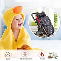 Winter Warm Baby Stroller Sleeping Bag Waterproof Newborn Infant Wheelchair Zipper Robe Sleepsacks Bedding Stroller Accessories