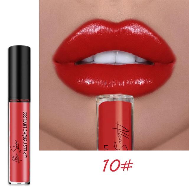 12 가지 색상 섹시한 리퀴드 립 글로스 글리터 쉬머 립스틱 방수성 오래 지속되는 모이스춰 라이징 영양가있는 립글로스 tslm2