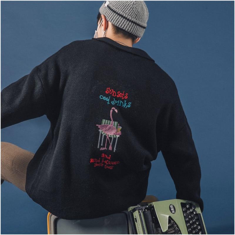 Broderie Noir Nouveautés Simple 2018 Casual Couleur Hommes En xl M Automne White De Polo Hiver Solide Chandail Tricot blanc Pull Et blanc p0dBxaq0