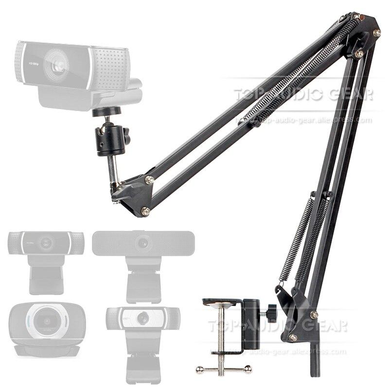 Desktop Suspension Boom Arm Mic Stand Scissor Mount Clamp For Logitech Webcam C922 C930e C930 C920 C615 C 922 930 e 930e 920 615Mic Stand   - AliExpress
