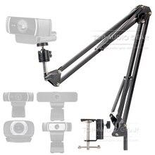 Desktop Suspension Boom Arm Mic Stand Scissor Mount Clamp For Logitech Webcam C922 C930e C930 C920 C615 C 922 930 e 930e 920 615