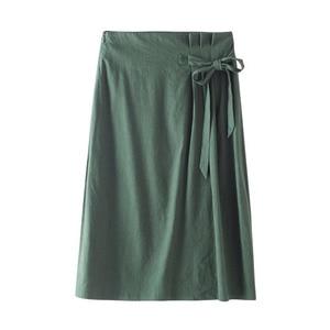Image 5 - INMAN verano cintura alta literaria Retro definido cintura cordones Slim Casual todo combinado A line falda de las mujeres