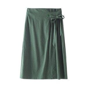 Image 5 - INMAN, летняя, с высокой талией, в стиле ретро, с определенной талией, со шнуровкой, тонкая, повседневная, универсальная, трапециевидная, Женская юбка