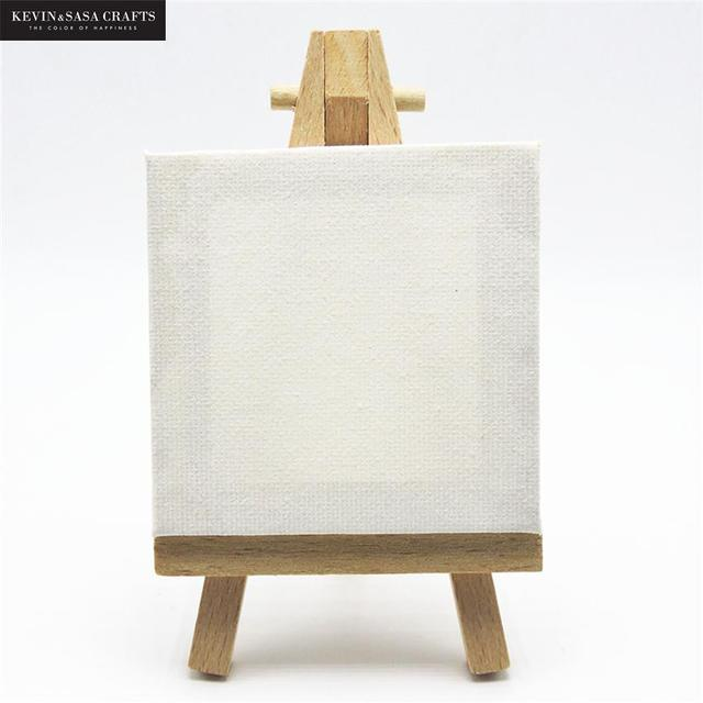 1 Set Mini Blank Canvas For Painting Acrylic Paint With Quality Easel Art Supplies For Painting Artist Stationery Kids Gifts