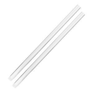 Barra acrílica de plexiglás, barra redonda resistente a arañazos, barra PMMA, 2 uds.
