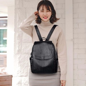 Image 3 - 2019 Female Leather Backpacks High Quality Sac A Dos Ladies Bagpack Luxury Designer Large Capacity Casual Daypack Girl Mochilas