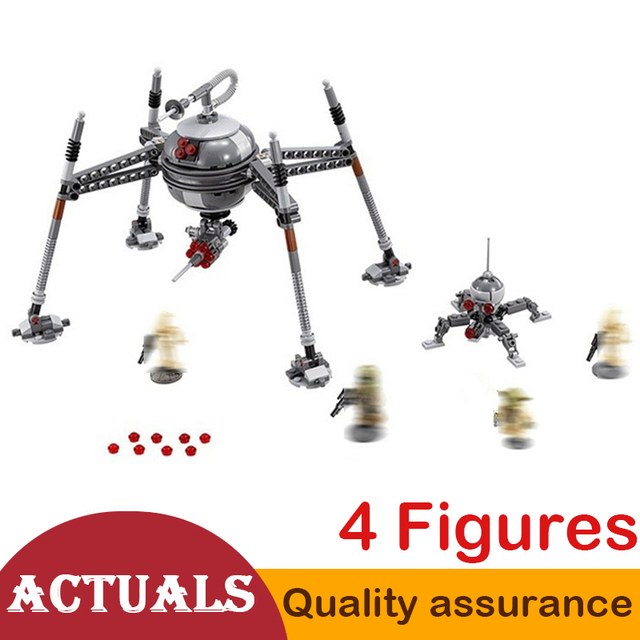 Lepin 05025 Star Series Wars Homing Spider Droid Robot Building Blocks Figures Model Bricks Toys Compatible with Lego 75142 Set