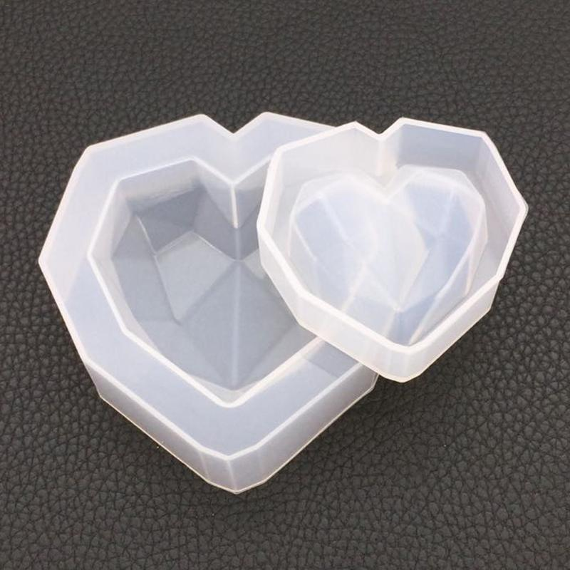Mould DIY Crystal Epoxy Geometry Heart-shaped Mold High Mirror Gypsum Aromatherapy Car Decoration Handmade Crystal Diamond Mould