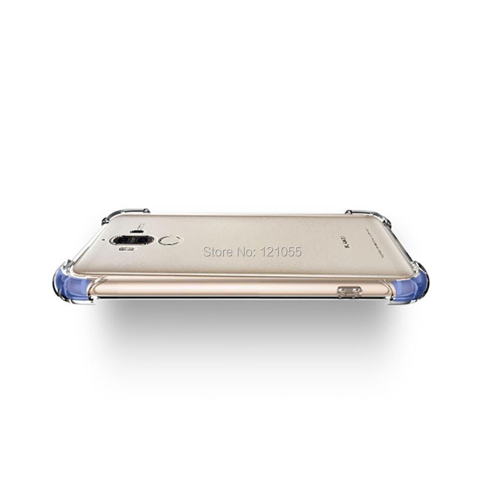 Silikon Fall Für Huawei Mate 20 Pro P20 lite Nova 3 Ehre 9 zurück abdeckung TPU stoßstange Ecke Transparent Klar fall groß 100 pcs/lot - 6
