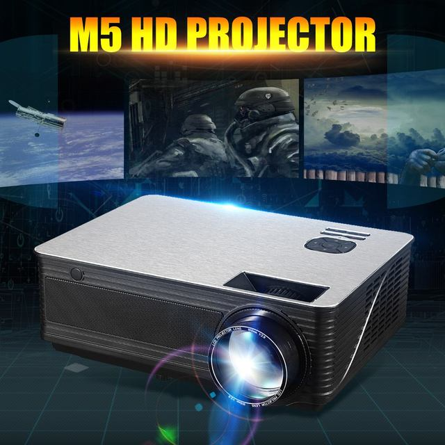 Flash Promo NEW LED Portable Projector 5.8 Inch LCD Projector 4500 Lumen 1280*800 Support 1080P TV Home Theater System