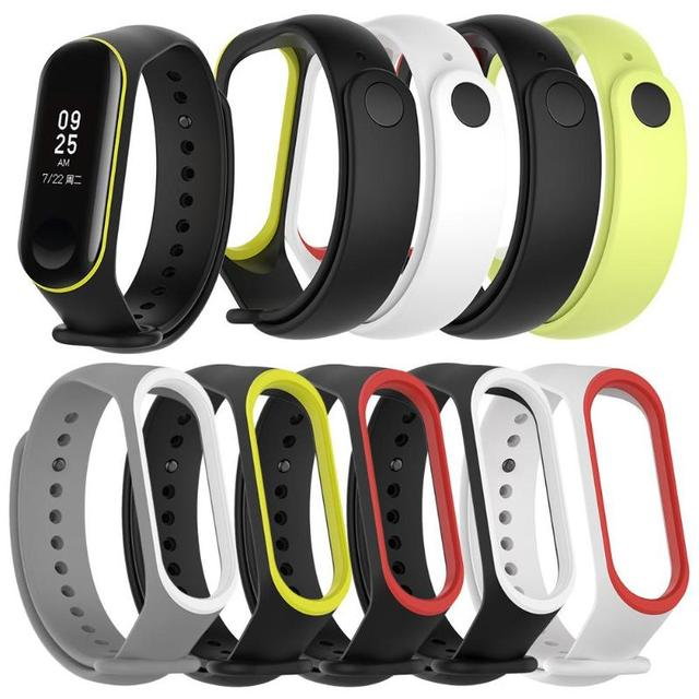 ALLOYSEED 1Pcs for Xiaomi Mi Band 3 Soft Silicone Porous Breathable Adjustable Watch Band Bracelet Wrist Strap Replacement