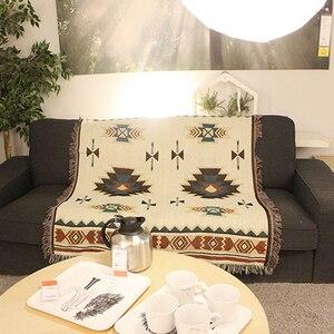 Image 4 - Multi Funktion Wohnkultur Aztec Navajo Handtuch Matte Baumwolle Sofa Bett Stuhl Decke Werfen Teppich Textil Wand Hängende Dekoration