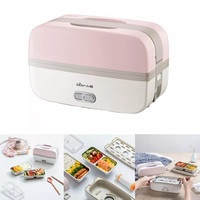 For Xiaomi 270W 0.5L Portable Electric Lunch Box Bento Box Insulated Food Heating Warmer Car Thermo Rice Food Storage Container