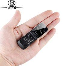 Pequeno mini flip telefones celulares sem câmera novo clamshell desbloqueado barato telefone celular bluetooth discador j9 botão telefone