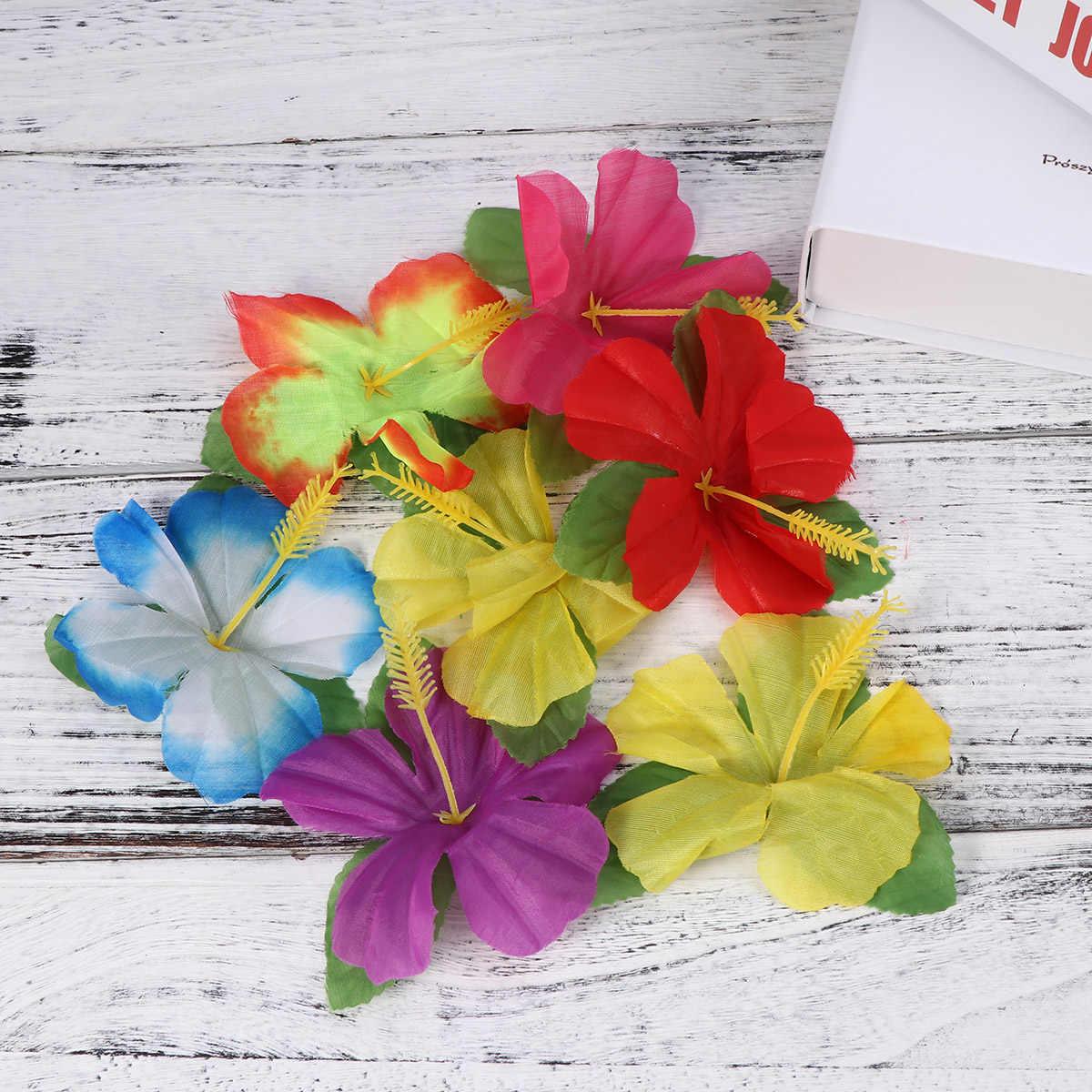 24 шт. Гавайские цветы Гибискус мутабилис красочные живой искусственный цветок для вечерние украшения стола банкет свадьба